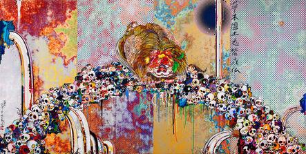 Takashi Murakami, 'Of Chinese Lions, Peonies, Skull and Fountains', 2012