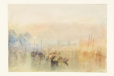 J. M. W. Turner, 'Venice, Shipping in the Bacino, with the Entrance to the Grand Canal', 1840