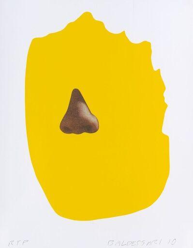 John Baldessari, 'Nose/Silhouette: Yellow', 2010