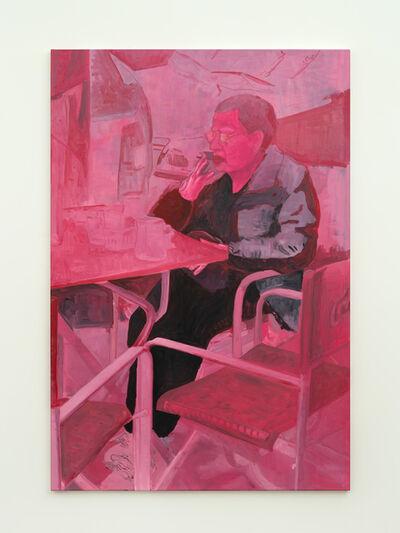 Valentina Liernur, 'Señora rosa (sentada en el bar)', 2021