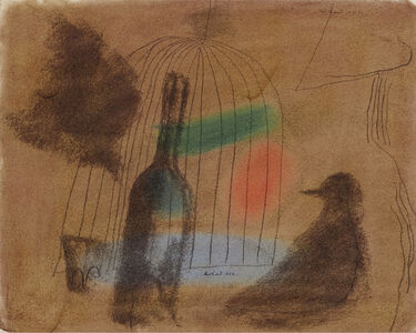 Paul Rand, 'Untitled, Wine Bottle and Bird Cage', 1952