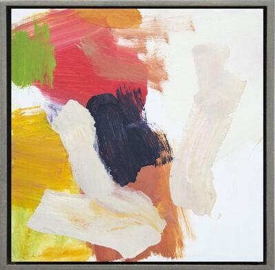 Scott Pattinson, 'Kairoi No 26 - small, red, yellow, white, gestural abstract, oil on canvas', 2016