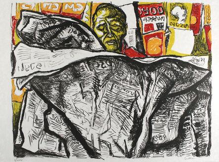 Renato Guttuso, 'Uomo con giornale / Man with Newspaper', 1965