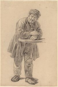 Charles Wesley Jarvis, 'Man Leaning on a Counter', 1820s