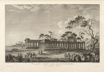 Jean Claude Richard de Saint-Non (author), 'Vu‰ g'n'rale des Temples de Paestrum, situ's sur le bord de la Mer', 1781