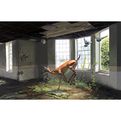 """Josh Keyes, '""""Faun In The Afternoon""""', 2016"""