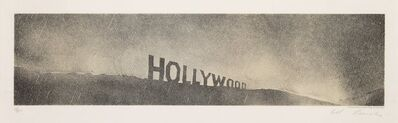 Ed Ruscha, 'Hollywood in the Rain, from Hollywood Collects', 1970