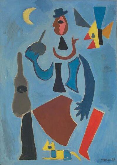 Miguel Ángel Pareja, 'Gaucho bleu a la guitare', 1955