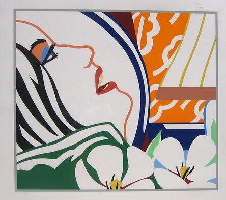 Tom Wesselmann, 'Bedroom Face with Orange Wallpaper', 1987