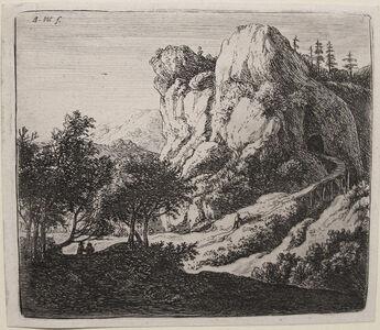Anthonie Waterloo, 'The Little Wooden Bridge (2nd State)', 1600s