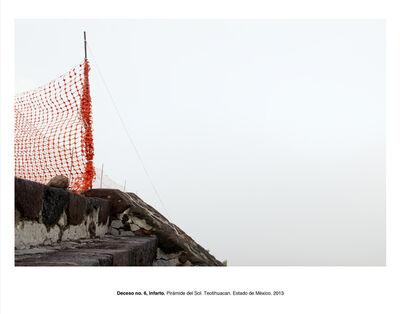 """Humberto Ríos, 'Deceso no. 6, infarto, Pirámide del Sol, Teotihuacán, Estado de México (from the series """"Forensic Documents"""")', 2013"""