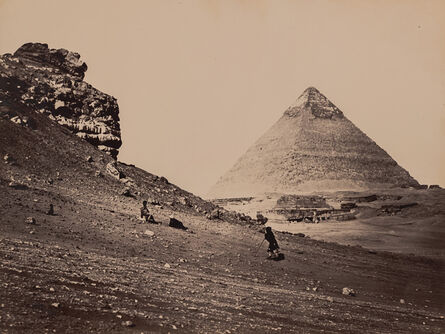 Francis Frith, 'The Second Pyramid from the Southeast', 1858