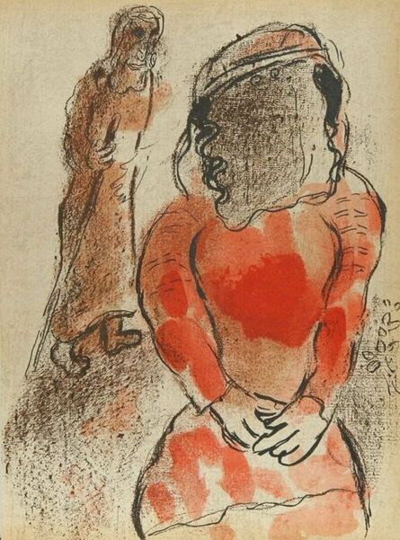 """Marc Chagall, 'Tamar: The Daughter-In-Law of Judah from """"Drawings From the Bible""""', 1960"""