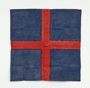 Noel Dolla, 'Croix Rouge et Bleu', 1975
