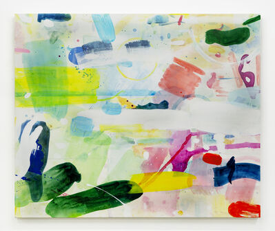 Tim Braden, 'Abstract Palette-Greens and Yellows (Studio Wall)', 2021