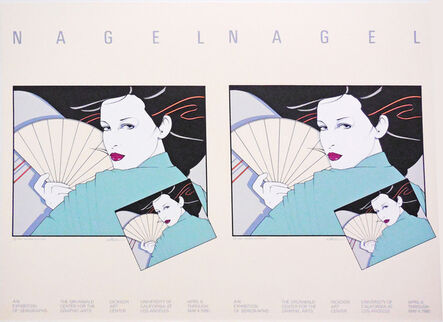 Patrick Nagel, 'The Grunwald Center for the Graphic Arts, UCLA, - Rare Double Print Edition', 1980
