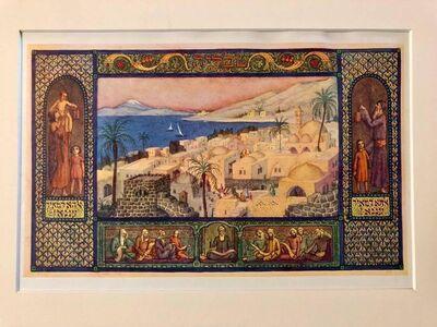 Zeev Raban, 'Rare Judaica Tiberius Bezalel Zeev Raban Chromolithograph (made in Palestine)', Early 20th Century