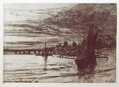 Francis Seymour Haden, 'Battersea Bridge', 1868