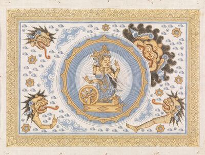 Unknown Artist, 'Painting, Kala Rau swallowing Dewl Raith, goddess of the moon', Kamasan, Bali, Indonesia, late 20th century