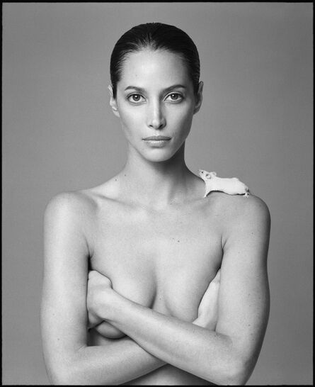 Patrick Demarchelier, 'Christy and Mouse', 1999