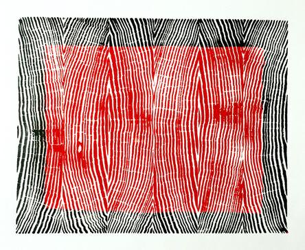 Andre Mirzaian, 'Vertical Grain Back Border Red Center', 2014