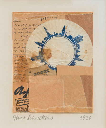 Kurt Schwitters, 'Untitled (20 ØRE, with Koran pages) ', 1936