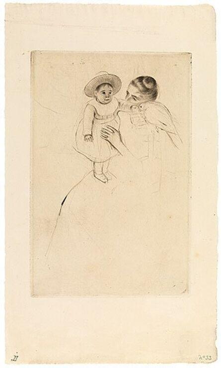Mary Cassatt, 'Helene of Septeuil (Enfant au perroquet)', ca. 1890