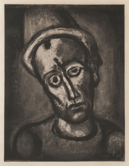 Georges Rouault, 'Qui ne se grime pas?  (Who does not wear a mask?)', 1020's-printed in 1948