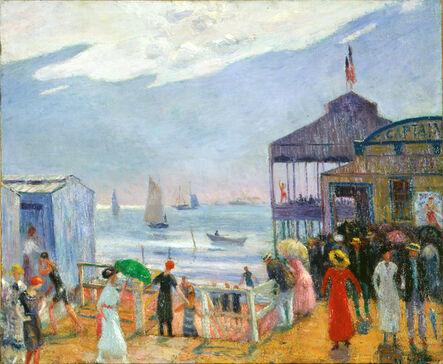 William James Glackens, 'Captain's Pier', 1912–14