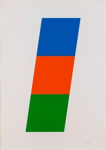 Ellsworth Kelly, 'Blue, Red-Orange, Green', 1970-1971