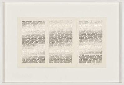 Irma Blank, 'Trascrizioni, Gedanken', 1974