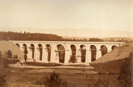 Bisson Frères, 'Viaduc de l'Aubonne, pres Allaman (Canton de Vaud)', 1850s/1850s