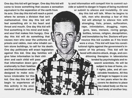 David Wojnarowicz, 'Untitled (One day this kid . . .)', 1990