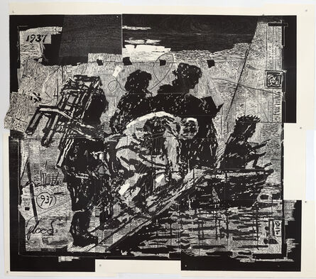 William Kentridge, 'The Flood from Triumphs and Laments Woodcuts', 2016-2017