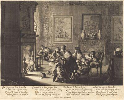 Abraham Bosse, 'The Foolish Virgins Sleeping'