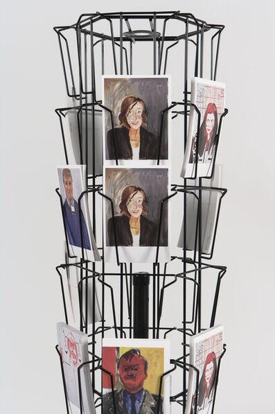 Reena Spaulings, 'Postcard display', 2013
