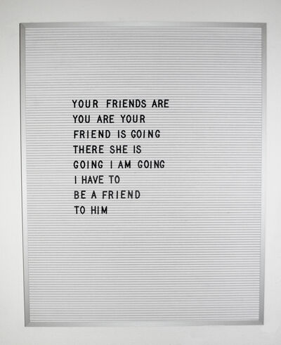 Nicole Reber, 'Friend', 2016