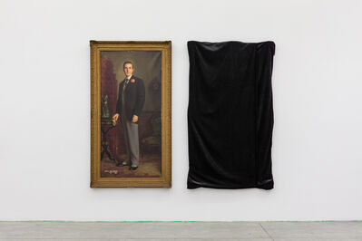 """Henrique Medina, '""""Portrait of Hurd Hatfield as Dorian Gray"""" and """"The Evil Twin""""', 1945 and 2016"""