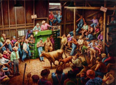 Jackson Lee Nesbitt, 'Farm Auction, Jackson County', 1947