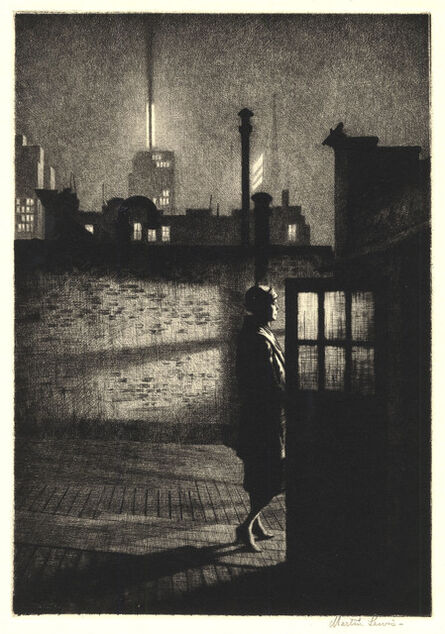 Martin Lewis, 'Little Penthouse.', 1931.