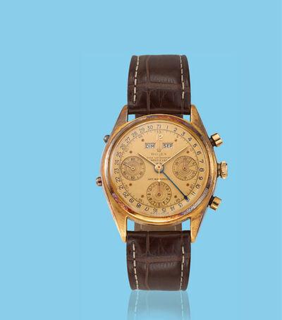"Rolex, 'Yellow gold chronograph ""Datocompax"" wristwatch, ref. 4767', ca. 1950"