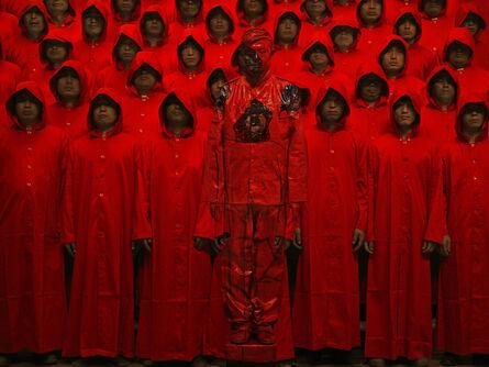 Liu Bolin, 'Hiding in the city, Red N°1', 2012
