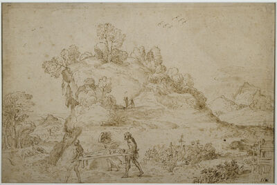 Annibale Carracci, 'Landscape and Figures'