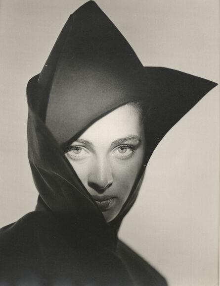 Erwin Blumenfeld, 'Hat Fashion, Vogue Series, New York (Hat and jacket by John Frederics)', 1945