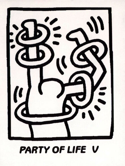 Keith Haring, 'Keith Haring Party of Life (announcement)', 1995