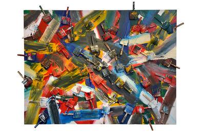 Arman, 'Battles Brushes', 1987