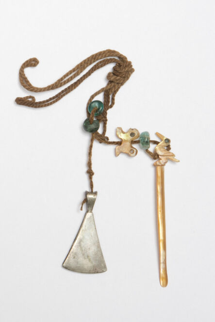 'Pince, bâtonnet à chaux et perles (Tongs, rod of slaked lime and pearls)', 1450-1532