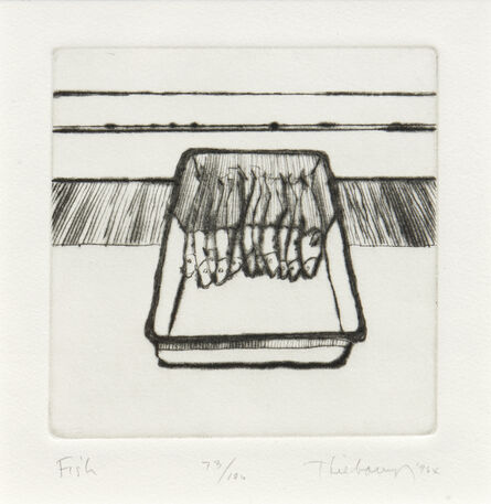 Wayne Thiebaud, 'Fish, from the series, Delights', 1964