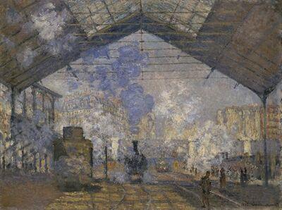 Claude Monet, 'La Gare Saint Lazare', 1877