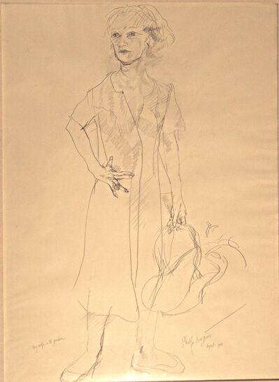 Philip Evergood, 'My Wife in the Garden', 1963